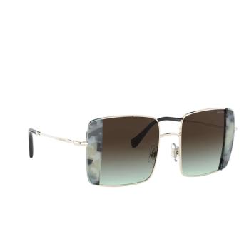 Miu Miu® Square Sunglasses: MU 56VS color Pale Gold / Havana Light Blue 08D07B.