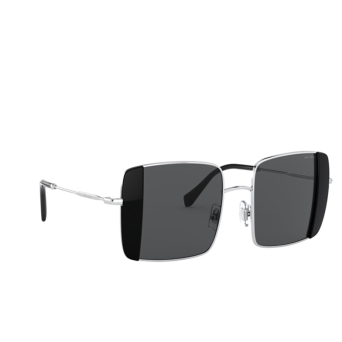 Miu Miu® Square Sunglasses: MU 56VS color Silver / Black 1AB5S0.