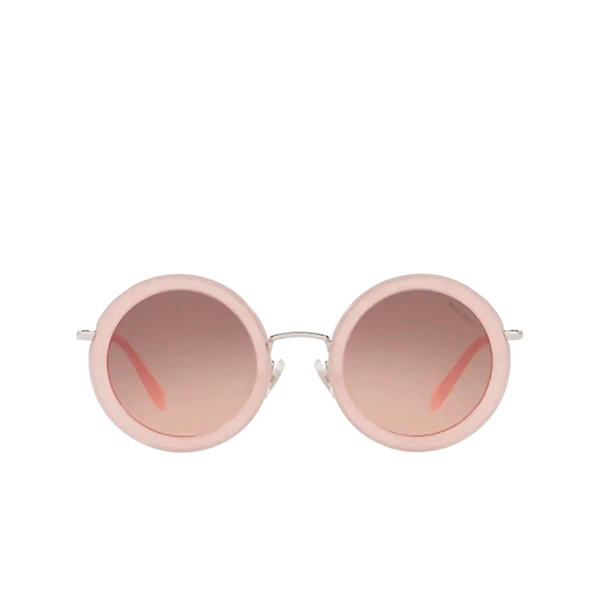 Miu Miu® Round Sunglasses: MU 59US color Opal Pink 1350A5.