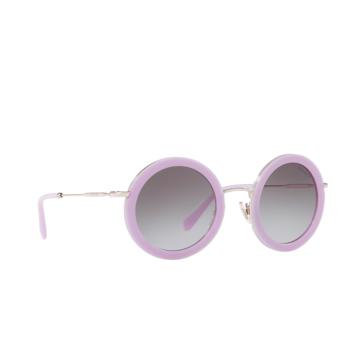 Miu Miu® Round Sunglasses: MU 59US color Opal Lilac 1363E2.