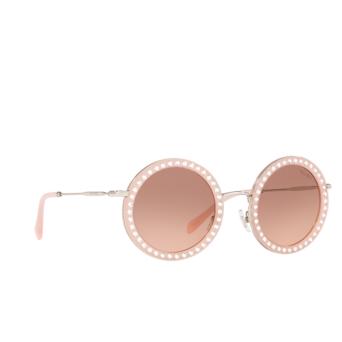 Miu Miu® Round Sunglasses: MU 59US color Opal Pink 1530A5.