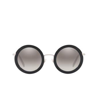 Miu Miu® Round Sunglasses: MU 59US color Black 1AB5O0.
