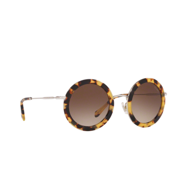 Miu Miu® Round Sunglasses: MU 59US color Light Havana 7S06S1.