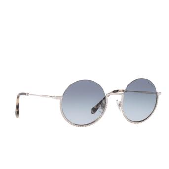 Miu Miu® Round Sunglasses: MU 69US color Silver 1BC4R2.