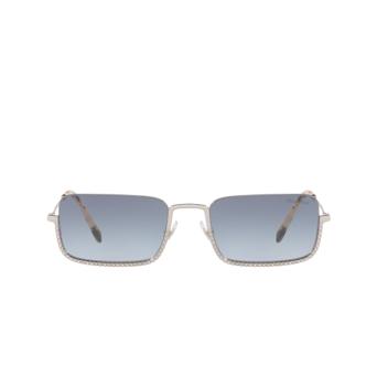 Miu Miu® Rectangle Sunglasses: MU 70US color Silver 1BC4R2.