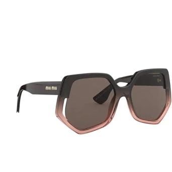 Miu Miu® Irregular Sunglasses: Special Project MU 07VS color Brown Gradient Transparent 02D06B.