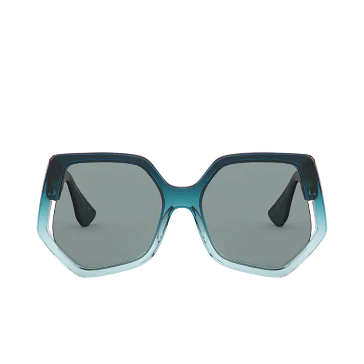 Miu Miu® Irregular Sunglasses: Special Project MU 07VS color Bordeaux Gradient Blue 03D3C2.