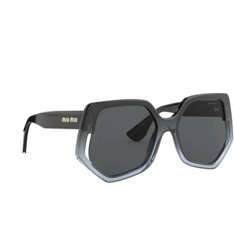 Miu Miu® Irregular Sunglasses: Special Project MU 07VS color Grey Gradient 5795S0.