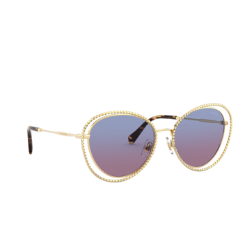 Miu Miu® Butterfly Sunglasses: Special Project MU 59VS color Gold 5AK08B.