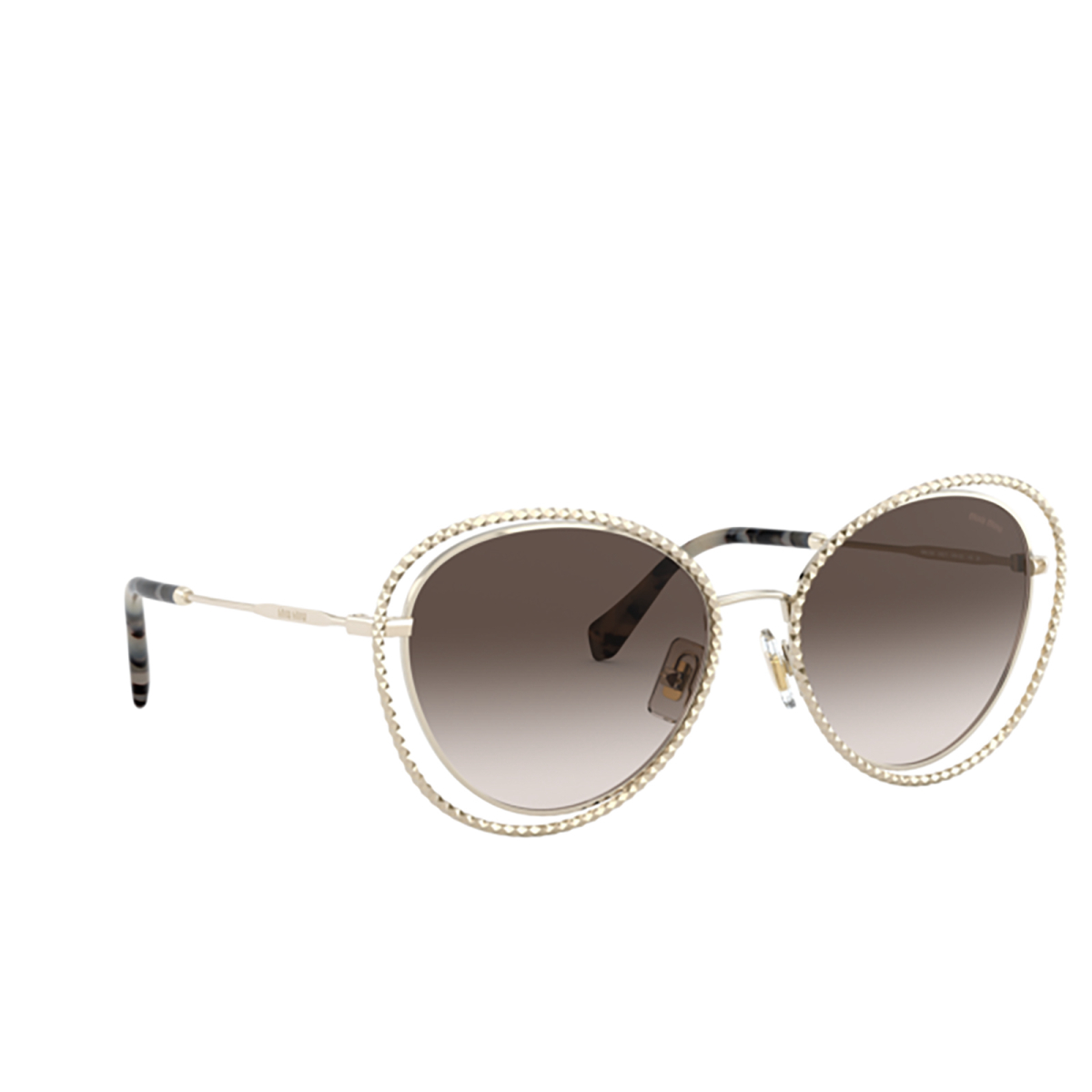 Miu Miu® Butterfly Sunglasses: Special Project MU 59VS color Pale Gold ZVN6S1.