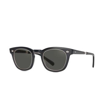 Mr. Leight® Square Sunglasses: Hanalei S color BKGLSS-12KWG/LA.