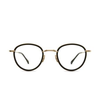 Mr. Leight® Round Eyeglasses: Mulholland C color BK-12KWG-BK.