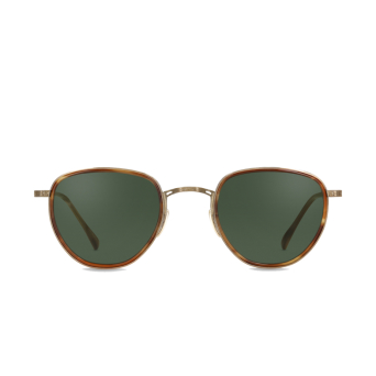 Mr. Leight® Round Sunglasses: Roku S color Bw-atg-bw/grngl.