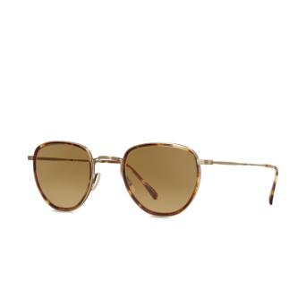 Mr. Leight® Round Sunglasses: Roku S color Mpl-atsg-mpl/wh.