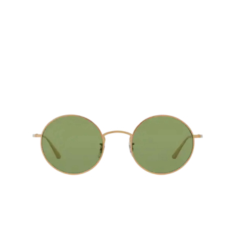 Oliver Peoples® Round Sunglasses: After Midnight OV1197ST color Brushed Gold 525252.