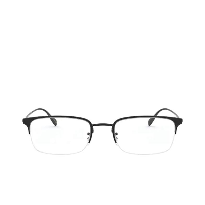 Oliver Peoples® Rectangle Eyeglasses: Codner OV1273 color Matte Black 5062.