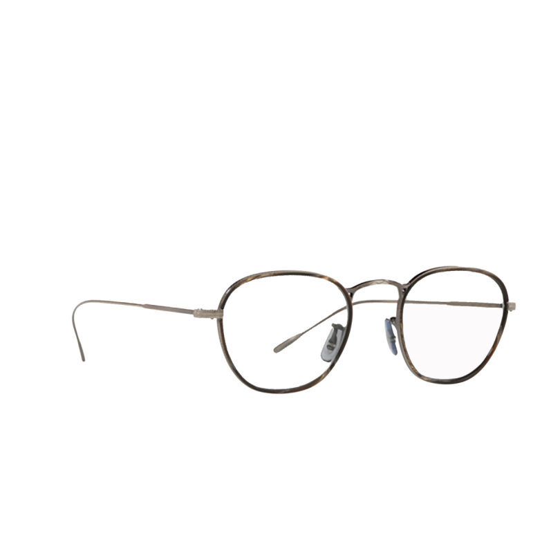 Oliver Peoples® Round Eyeglasses: Eoin OV1237J color Black Horn 5289.