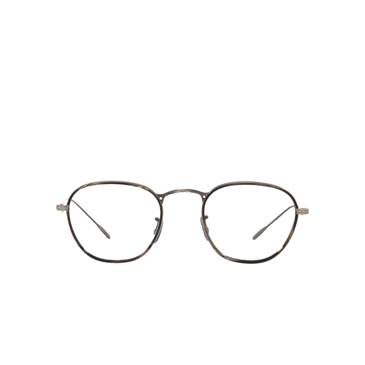 Oliver Peoples® Round Eyeglasses: Eoin OV1237J color Black Horn 5289.