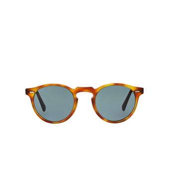 Oliver Peoples® Round Sunglasses: Gregory Peck Sun OV5217S color Semi Matte Lbr 1483R8.