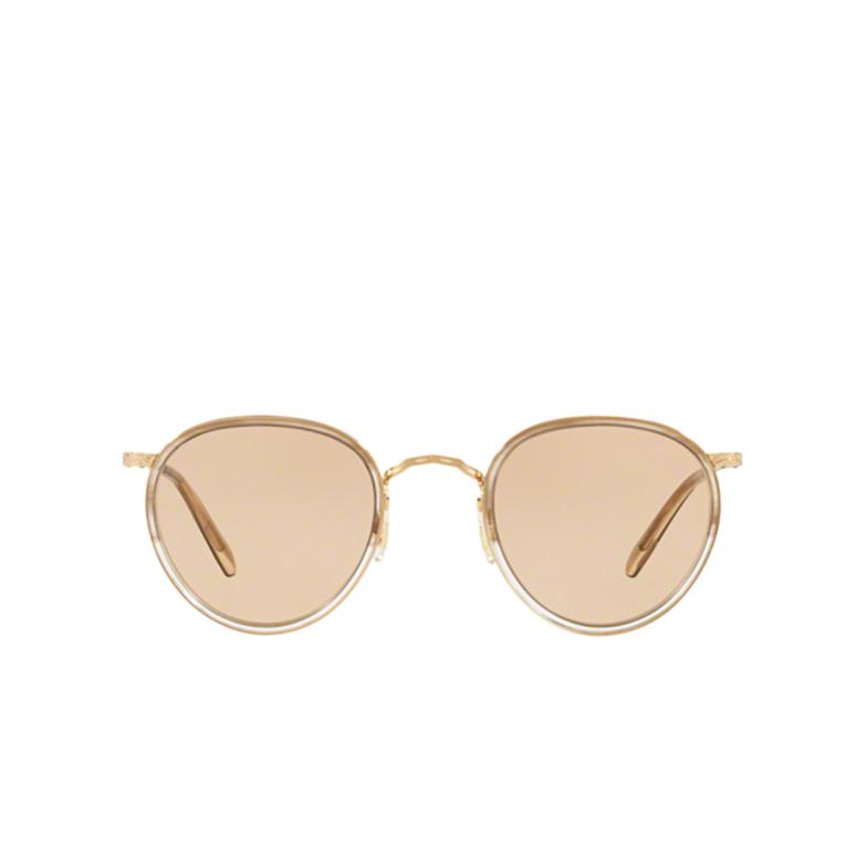 Oliver Peoples® Round Eyeglasses: Mp-2 OV1104 color Military Vsb / 18k Gold Plated 5287.