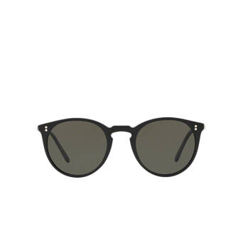 Oliver Peoples® Round Sunglasses: O'malley Sun OV5183S color Black 1005P1.