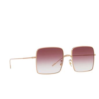 Oliver Peoples® Square Sunglasses: Rassine OV1236S color Soft Rose Gold 50378H.