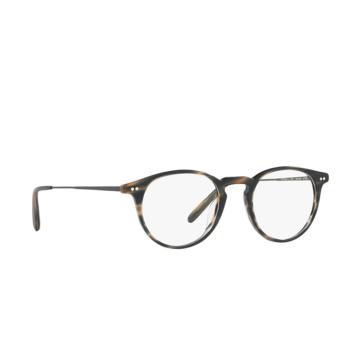 Oliver Peoples® Round Eyeglasses: Ryerson OV5362U color Semi Matte Blue Cocobolo 1614.