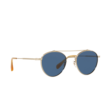 Oliver Peoples® Round Sunglasses: Watts Sun OV1223ST color Brushed Gold 525280.