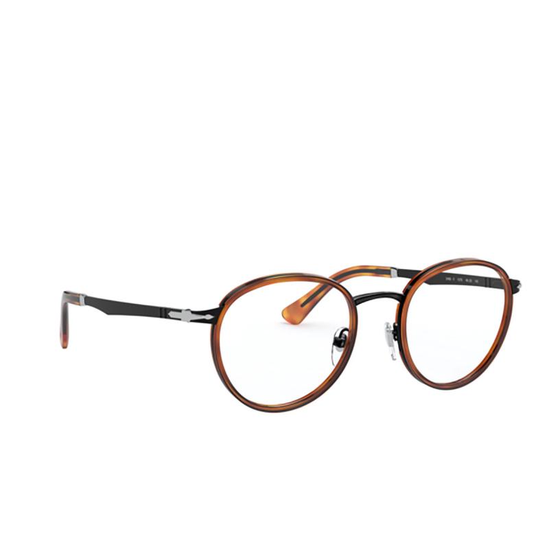 Persol® Round Eyeglasses: PO2468V color Black & Havana 1078.