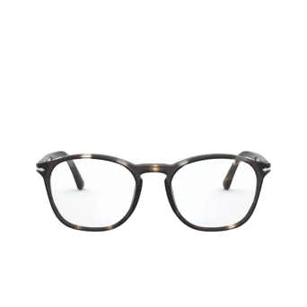 Persol® Square Eyeglasses: PO3007VM color Striped Brown & Smoke 1124.