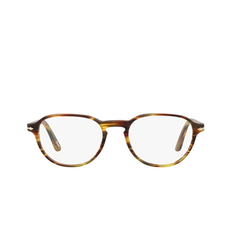 Persol® Square Eyeglasses: PO3053V color Havana 24.