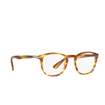 Persol® Square Eyeglasses: PO3143V color Striped Brown Yellow 1050.