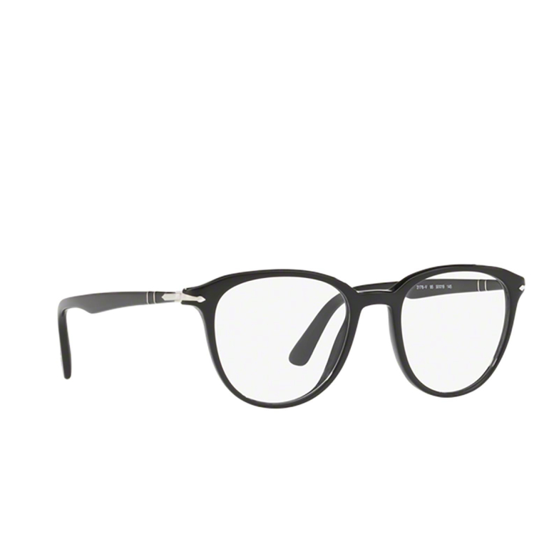 Persol® Square Eyeglasses: PO3176V color Black 95.