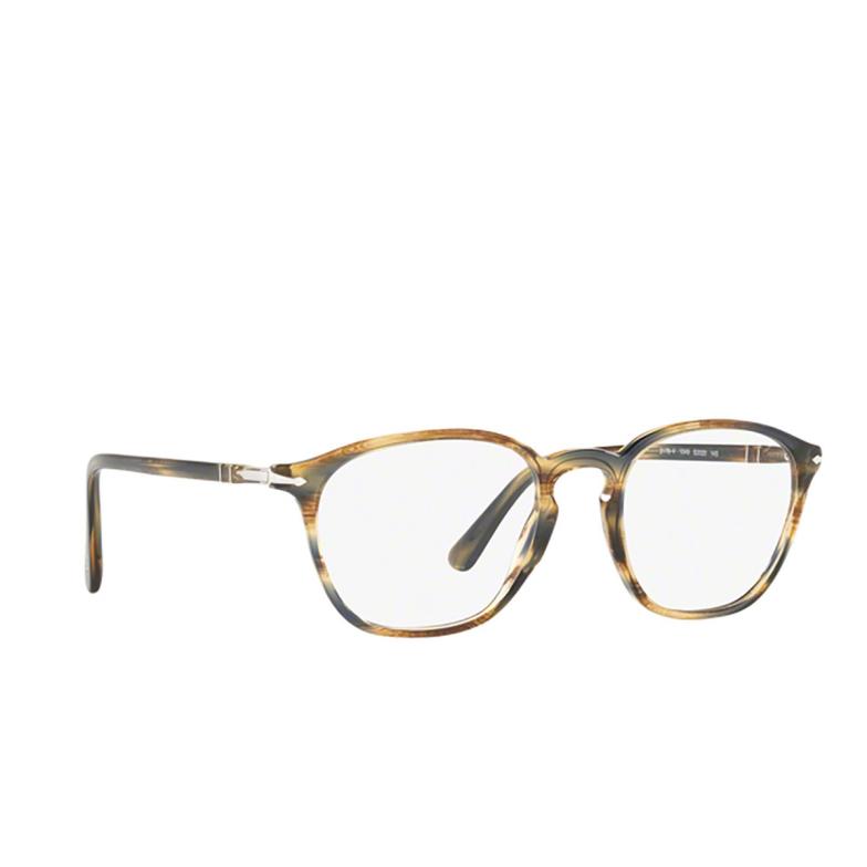 Persol® Rectangle Eyeglasses: PO3178V color Striped Brown Grey 1049.