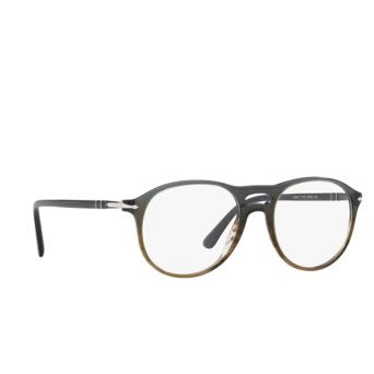 Persol® Aviator Eyeglasses: PO3202V color Gradient Grey Stripped Green 1012.