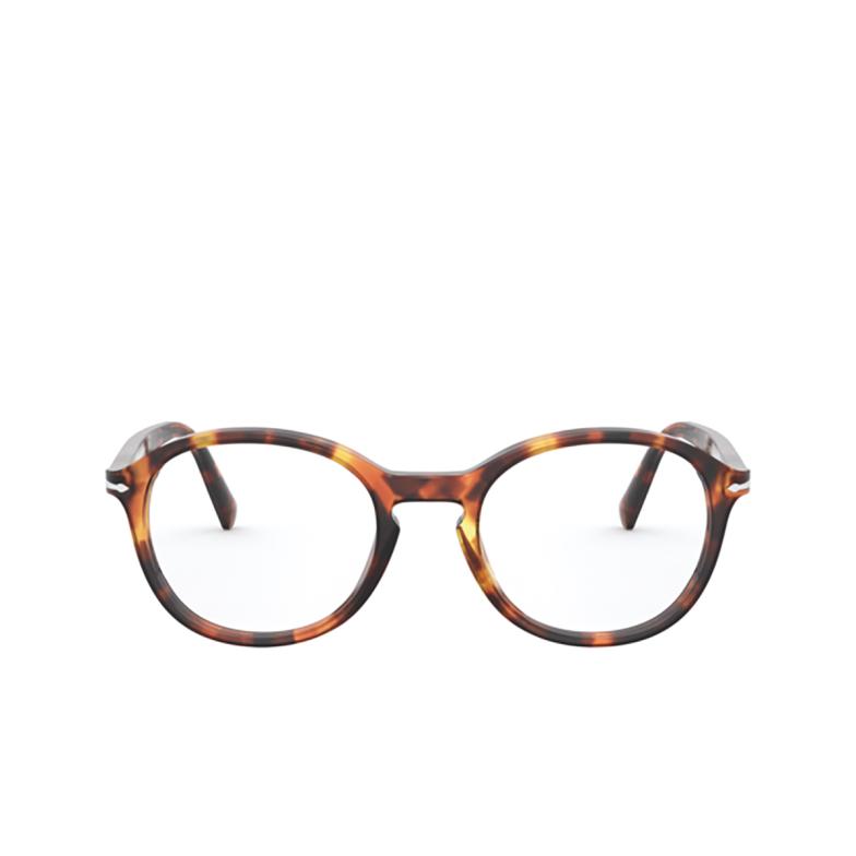 Persol® Round Eyeglasses: PO3239V color Honey Tortoise 1102.