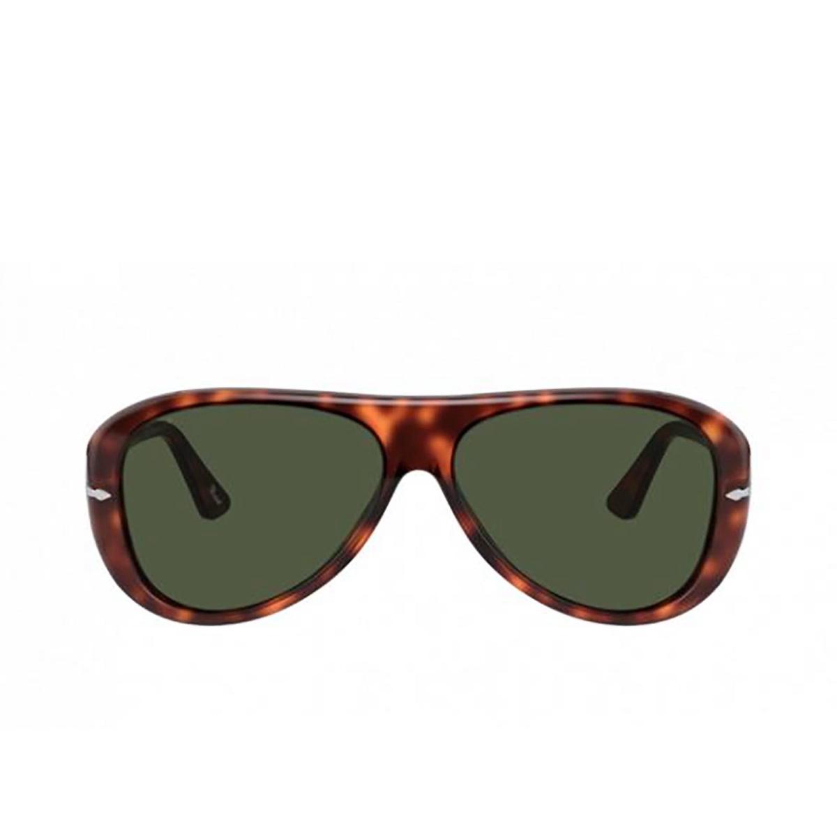 Persol® Aviator Sunglasses: PO3260S color Havana 24/31.