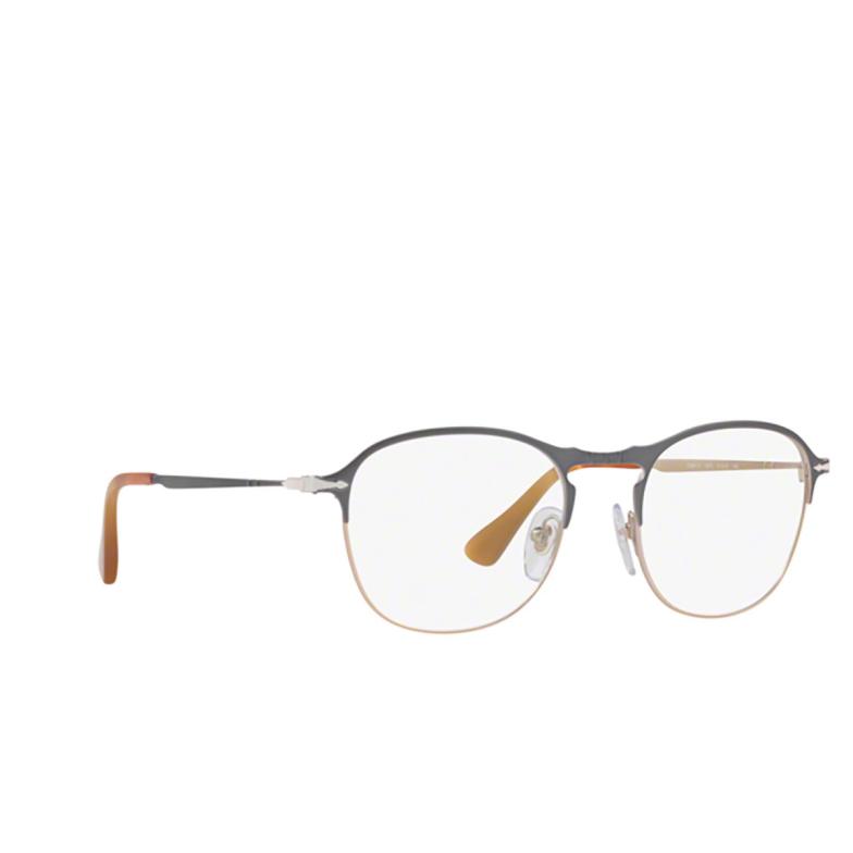 Persol® Square Eyeglasses: PO7007V color Grey / Light Brown 1071.