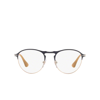 Persol® Round Eyeglasses: PO7092V color Matte Grey / Light Brown 1071.