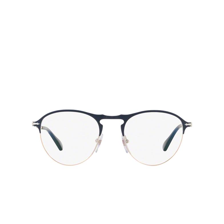 Persol® Round Eyeglasses: PO7092V color Blue / Bronze 1073.