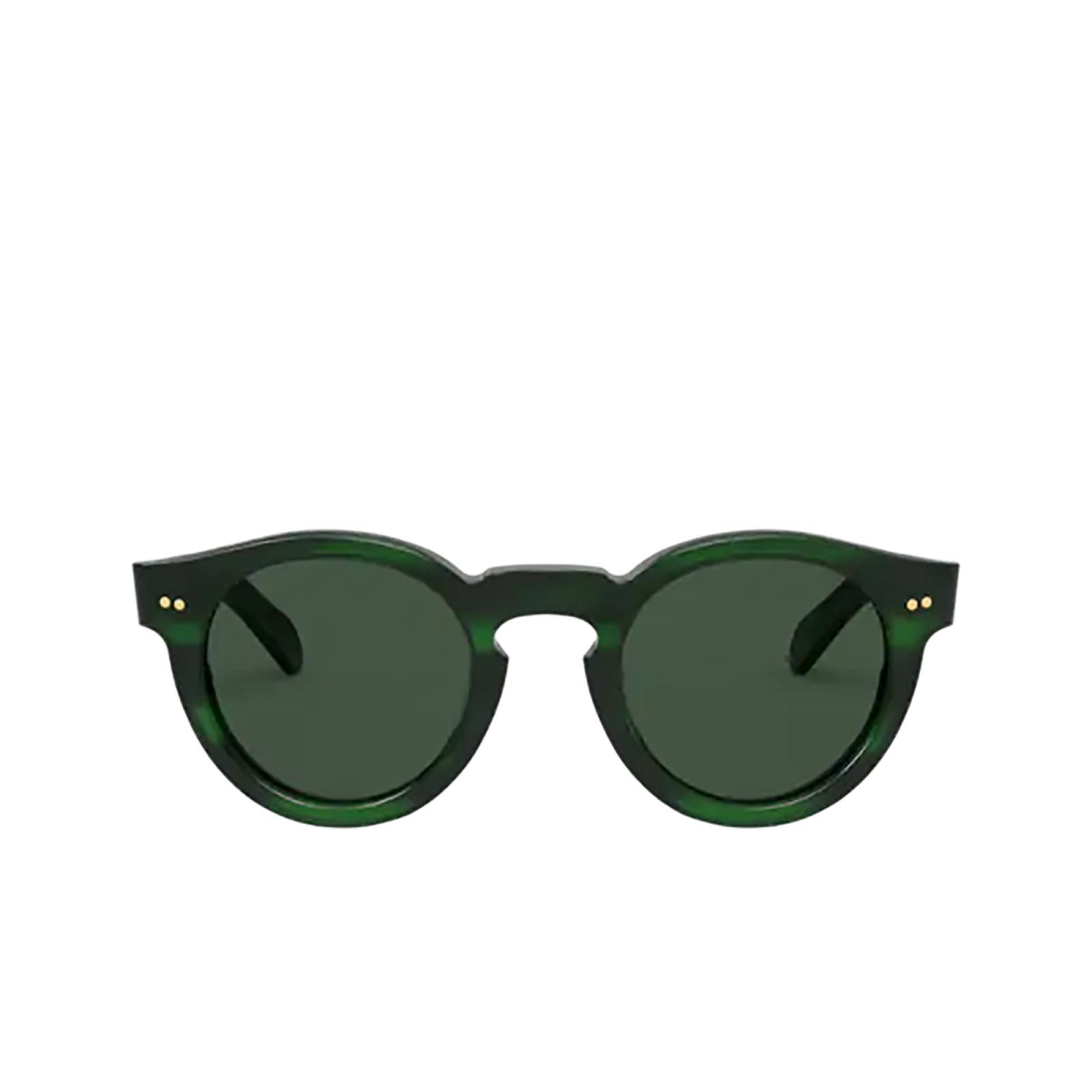 Polo Ralph Lauren® Round Sunglasses: PH4165 color Shiny Green Havana 512571.