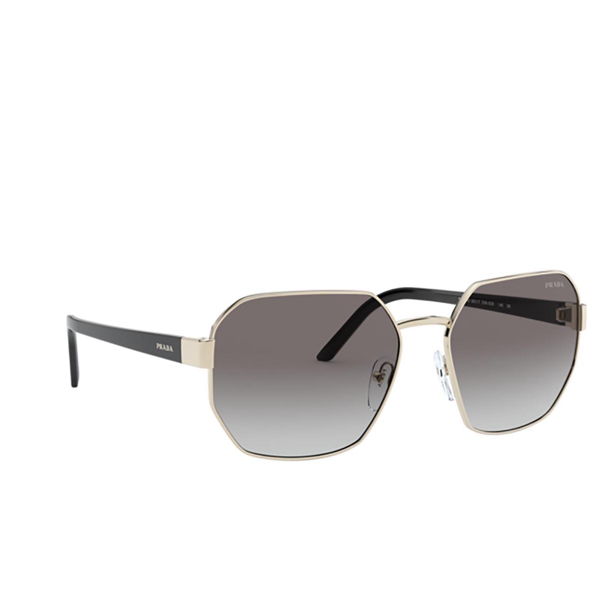 Prada® Rectangle Sunglasses: PR 54XS color Pale Gold ZVN5O0.