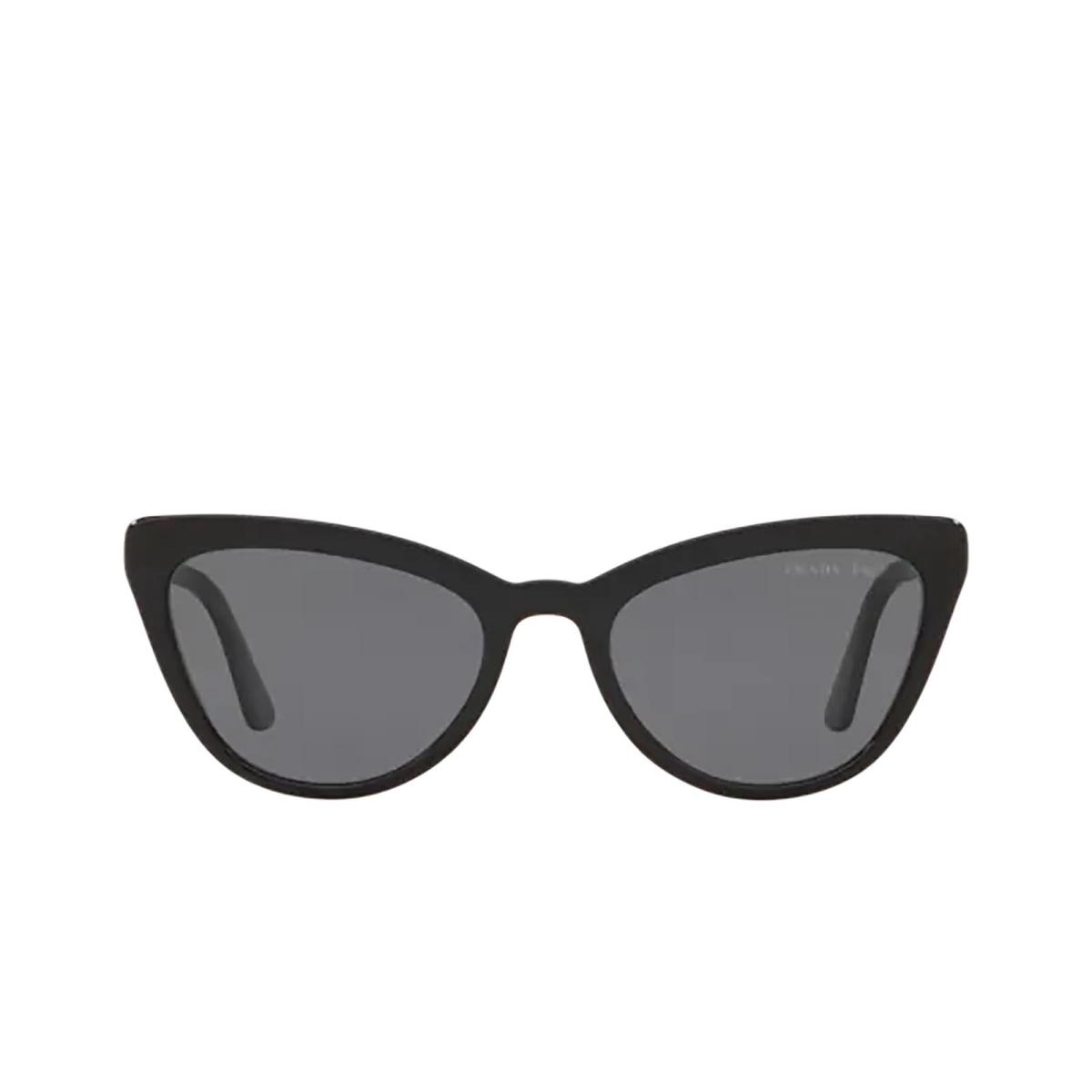 Prada® Cat-eye Sunglasses: PR 01VS color Black 1AB5Z1.