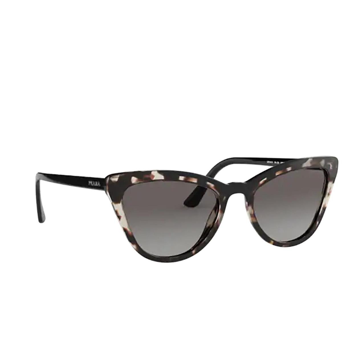 Prada® Cat-eye Sunglasses: PR 01VS color Opal Spotted Brown / Black 3980A7.