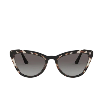 Prada® Cat-eye Sunglasses: PR 01VS color Opal Spotted Brown / Black 3980A7.