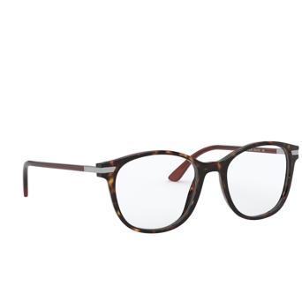 Prada® Square Eyeglasses: PR 02WV color Havana 01A1O1.