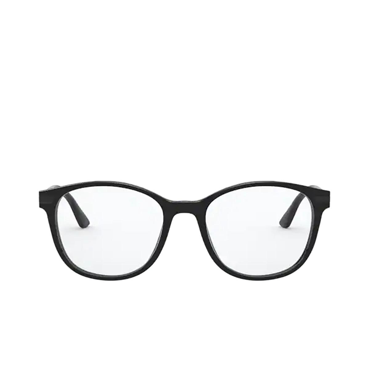 Prada® Round Eyeglasses: PR 02WV color Black 07F1O1.