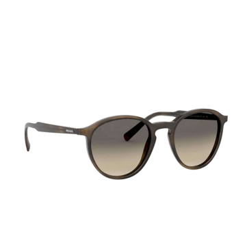 Prada® Round Sunglasses: PR 05XS color Striped Green 548718.