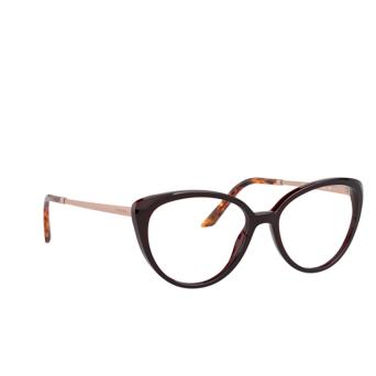 Prada® Cat-eye Eyeglasses: PR 06WV color Bordeaux UAN1O1.