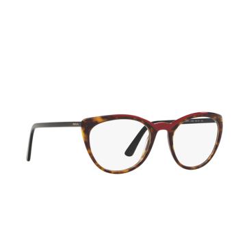 Prada® Butterfly Eyeglasses: PR 07VV color Havana / Red 3201O1.